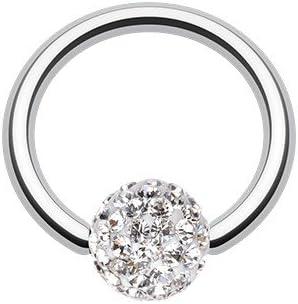 WildKlass Jewelry Multi-Sprinkle Dot Multi Gem Captive Bead Ring 316L Surgical Steel