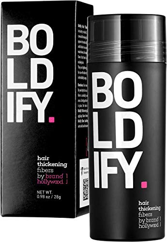 BOLDIFY Hair Fibers for Thinning Hair 100% Undetectable & Natural - Giant 28g Bottle - Completely Conceals Hair Loss in 15 Seconds - Hair Thickener & Topper for Fine Hair for Women & Men