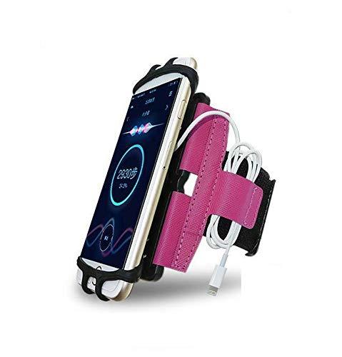 CoverKingz Universal Sportarmband für Smartphones von 4,0 – 7,0 Zoll, Armtasche mit Schlüsselfach, Handy Tasche Pink