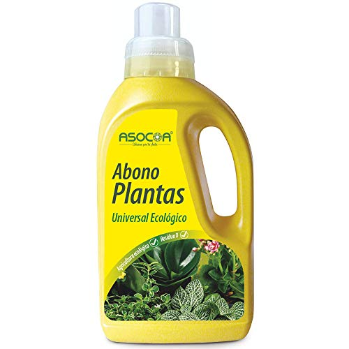 ASOCOA COA108 Abono Plantas universal - ECO 1 litro, Amarillo, Universal - ECO