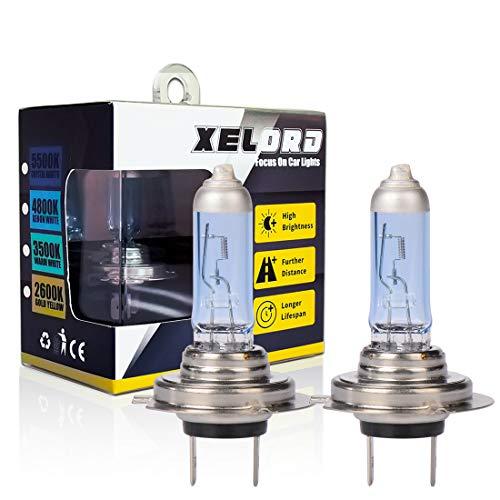 H7 Halogen Lampe Auto 55W 12V Halogen-Scheinwerferlampe Glühbirne H7 Abblendlicht, E - Prüfzeichen, 2 Stück …