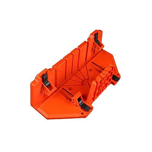 ANCLLO Gabinete multifuncional para sierra de inglete 0/22.5/45 grados Guía de sierra carpintería - Naranja, 14 pulgadas con abrazadera