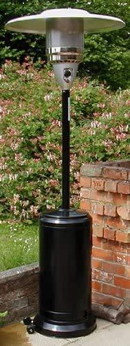 Gasmaster® Gas Patio Heater - FREE Regulator & Hose, Wheel kit - Cover and ground anchors* - Black powder coated finish*