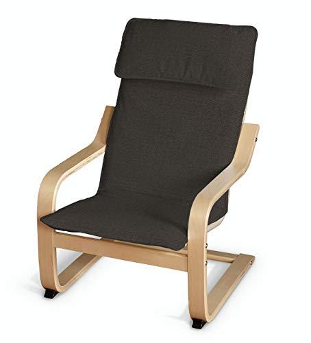 Dekoria Poäng Kissen für den Kindersessel Sesselhusse passend für IKEA Modell Klappsta braun