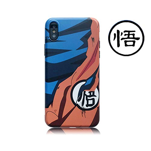 Abbery for iPhone 7 / iPhone 8 / iPhone SE (2020) Case, Dragon Ball Super Son Goku Cartoon Design Japanese Style Soft Silicone TPU Cell Phone Back Cover for iPhone 7/8 / iPhone SE (2020) Cases