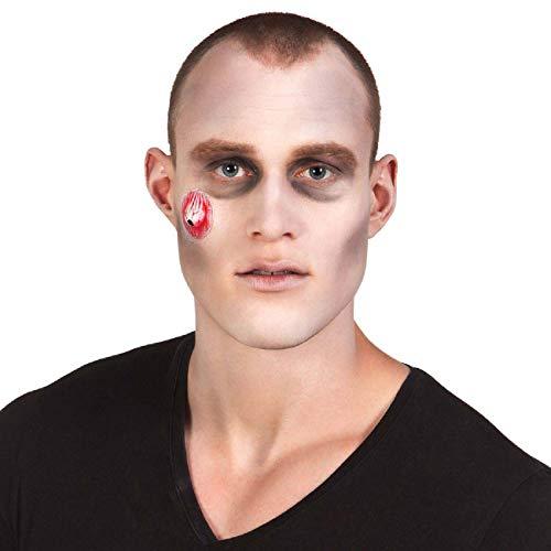 Boland- Kit Make-Up Trucco Zombie per Adulti, Bianco/Rosso/Nero, Taglia Unica, 45085