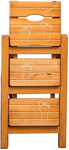 LJBXDCZ NJ barkruk, 3 inklapbaar, trapstoel, van massief grenenhout, trapstoel, multifunctionele stoel, keukenrek, kantoor/bibliotheek