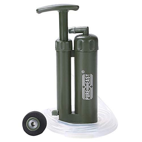 Pure Easy Purificateur d'eau portable pour randonnée camping 0,1 micron 2000 l, Vert