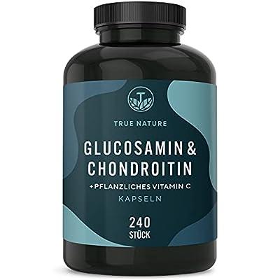 TRUE NATURE® Glucosamin & Chondroitin Hochdosiert - mit 2700mg pro Tagesdosis - Einführungspreis - 270 Kapseln - Pharmazeutische Qualität - Mehrfach Laborgeprüft - Deutsche Produktion
