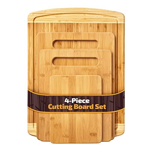Bambusi Organic Bamboo Cutting Board Set