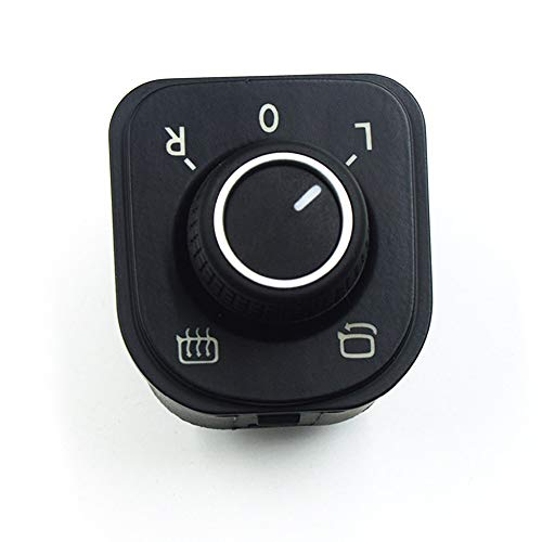 LPL Interruptor de Control de Espejo Ajustar la Perilla Compatible con VW Volkswagen Jetta Golf MK5 MK6 Tiguan CC Passat B6 B7 5nd 959 565F 5ND959565A