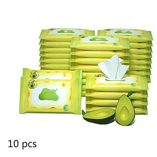 YANGSANJIN Natuurlijke en 100% biologisch katoen baby-wipes, kruiden babydoekjes, baby-basis- (10 stuks x 10 stuks)