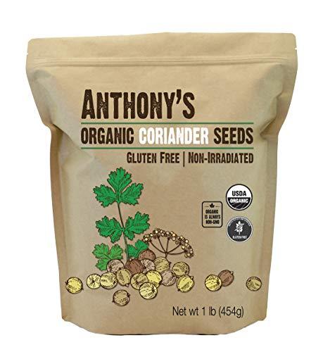 Anthony's Organic Coriander Seeds, 1 lb, Gluten Free, Non GMO, Non Irradiated, Keto Friendly