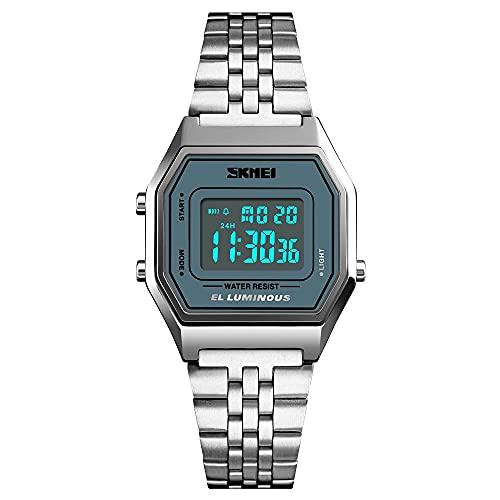 Moda hombres mujeres reloj lujo digital mujeres ropa reloj reloj superior marca deportes cronómetro reloj despertador