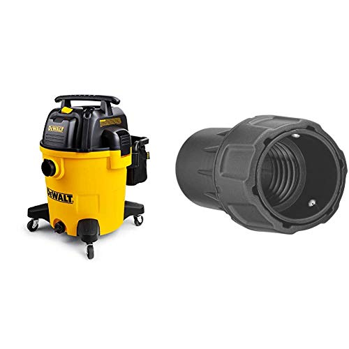 DeWALT 12 Gallon Poly Wet/Dry Vac & DWV9000 Universal Connector