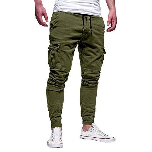 2021 Nuevo Pantalones para Hombre, Pantalones Moda Casual Deportivos Color Sólido Pants Jogging Fitness Gym Slim Fit Pantalones Largos Pantalones con Bolsillos Ropa de Hombre Trekking Hombres