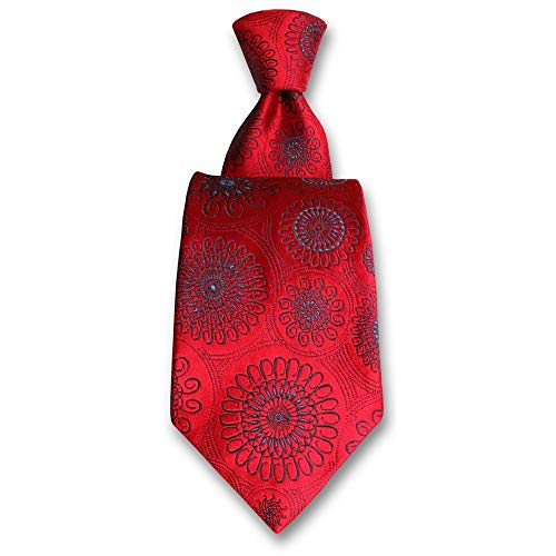 Robert Charles - Cravate Astoria Rouge Et Bleu
