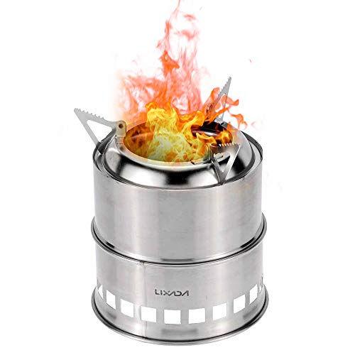Lixada Camping Stove,Ultralight Folding Stainless Steel Wood Stove...
