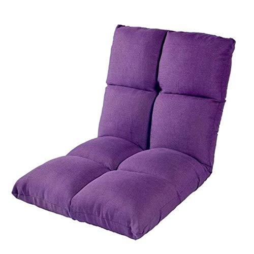WYD Lazy Sofa Acht Raster Design Bodenstuhl Faule Couch Tatami Stuhl Folding Portable Baby Stuhl Schlafsessel Klappmatratze Mit Einstellbar Rückenlehne,Lila