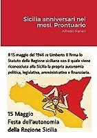 Sicilia Anniversari nei mesi. Prontuario
