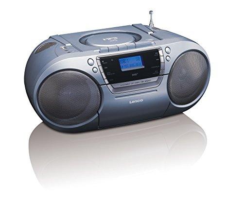 Lenco DAB+/FM tragbares Radio SCD-680 mit CD/MP3 Player, Kassettenspieler und USB Anschluss, MP3, PLL FM Radio mit RDS, AUX-Eingang, Kopfhörerbuchse