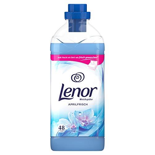Lenor Weichspüler, Flauschige Wäsche, Lenor Aprilfrisch mit Duft von Frühlingsblumen, 48 Waschladungen (1.44 L)