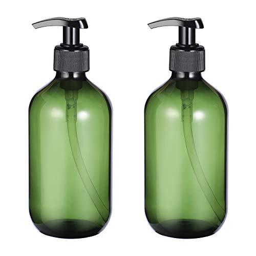 Beaupretty 2 STÜCKE Leere Shampoo Flasche Nachfüllbare Seifenspender Flasche 300 ml (Grün)