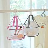 2pcs Makeup Blenders Sponges Puff Eggs Brushes Dryer Hanging Mesh Drying Rack 7.8 inch Jinhong Mini Bathroom Basket Airing Net. Cosmetic Tools Cleaning Holder Organizer (1x Gray + 1x Pink)