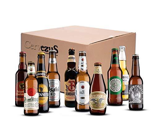 Cervezas del Mundo Regalo (Pack 10 variedades) - Pack Cervezas del Mundo Regalo -...
