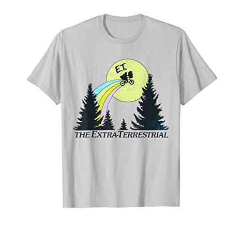 E.T. The Extra-Terrestrial Rainbow Bike Trail Sketch T-Shirt