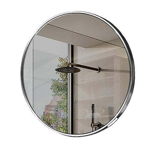 Specchio da bagno da 40/50/060 / 70cm Grande bagno, specchio per vanità in vetro ad alta definizione, specchio in argento infrangibile, sala rivolta in argento, specchio a muro rotondo con mensola, co