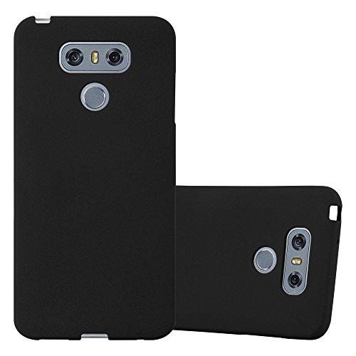 Cadorabo Custodia per LG G6 in FROST NERO - Morbida Cover Protettiva Sottile di Silicone TPU con Bordo Protezione - Ultra Slim Case Antiurto Gel Back Bumper Guscio