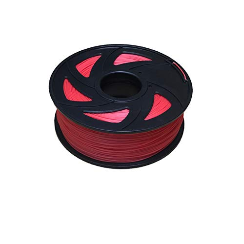YANGDONG PLA 3D-Druckerfilament, Dimensional 1,75 Mm 1kg (2.2 £), 3D-Stiftfilament-niedriger Geruch, Chemische Beständigkeit (Color : Red)