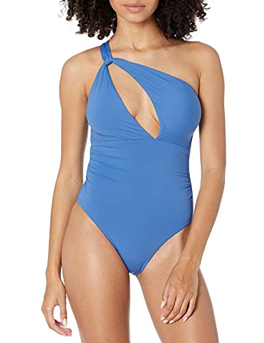 Seafolly Women's Shoulder Cut Out One Piece Swimsuit, Marina Blue, 12