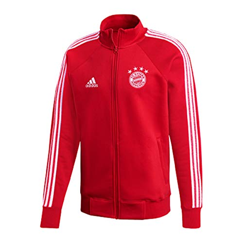 adidas Herren FC Bayern Icons Top Trainingsjacke, Fcbtru/White, S