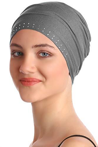 Deresina Headwear Tapa Delantera Enjoyada (Gris Oscuro)