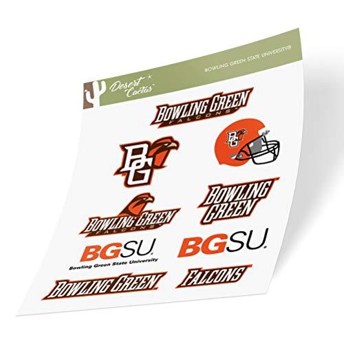 Bowling Green State University Full Sheet Sticker Vinyl Decal Laptop Water Bottle Car Scrapbook (Full Sheet)