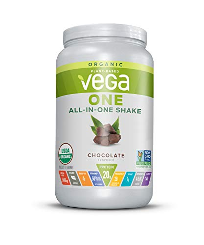 Vega One Organic Meal Replacement Plant Based Protein Powder, 17 Servings, Chocolate 25.0 Ounce