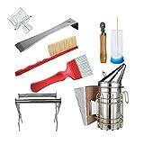 YepYes Herramientas de la Apicultura Apicultura Kit de Accesorios de Apicultura Equipo Conjunto para el Apicultor 8PCS