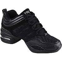 Gtagain Contemporáneo Jazz Zapatos Mujer - Lona Cordones Zapatillas Informal Danza Baile Practicidad Running Sneaker Aire Libre Deportes Running (Los Zapatos Son más pequeños)