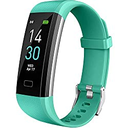 Vabogu Fitness Tracker HR, with Blood Pressure Heart Rate Monitor, Pedometer, Sleep Monitor, Calorie Counter, Vibrating Alarm, Clock IP68 Waterproof for Women Men (Green)