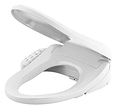 KOHLER K-8298-0 C3 155 Elongated Warm Water Bidet Toilet Seat, White with Quiet-Close Lid and Seat, Automatic Deodorization, Self-Cleaning Wand, Adjustable Water Pressure, Nightlight, Heated Seat