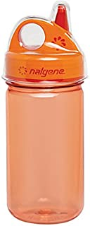 Nalgene Grip-N-Gulp Bottle with Cover, Orange, 12 oz