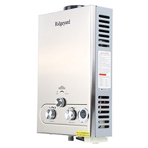 Ridgeyard 8L 2GPM LPG Propane Gas Tankless Instant Hot Water Heater Boiler Burner with Shower Head Indoor Home Bathroom Supplies