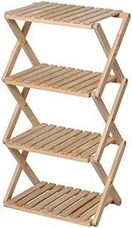 コーナン オリジナル コーナンラック 折り畳み式木製ラック W460(4段) ナチュラル 4段(約幅46X奥行30X高さ86cm)