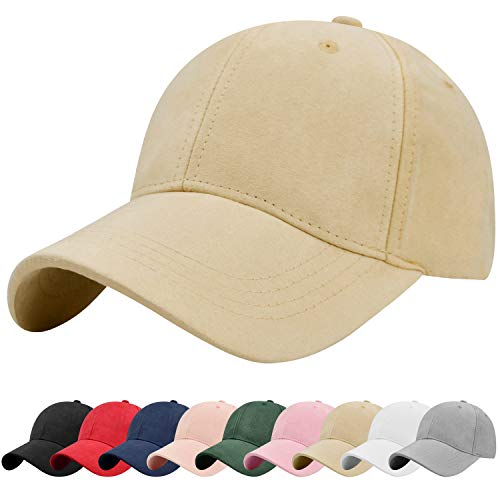 Tuopuda Unisex Vintage Gamuza Gorra de béisbol Ajustable Sombrero Transpirable Liso