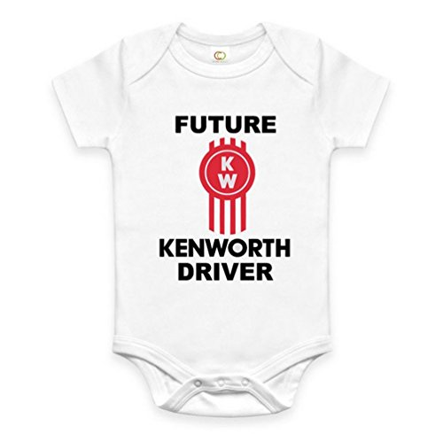 Rare New Future Kenworth Truck Driver Funny Baby Clothes Cute Unisex Bodysuit Onesie Short Sleeve Romper One Piece Prime Outfits with Sayings Body Bébé (6-12 Mois)