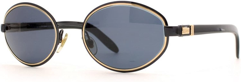 Gianfranco Ferre 469 7JU Black and gold Authentic Women Vintage Sunglasses