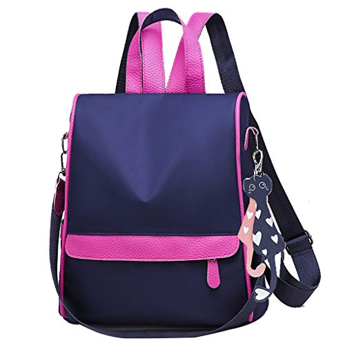 QinMM, Damen Rucksack Soft Oxford Leder Rucksack Handtasche Schultertasche All in One Multifunktions Rucksack