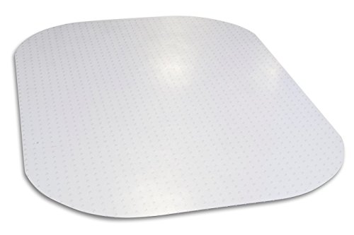 """Evolve Modern Shape 45""""x 60"""" Clear Rectangle Office Chair Mat for Low and Medium Pile Carpet, Made in The USA by Dimex, Phthalate Free, C5E6001J"""